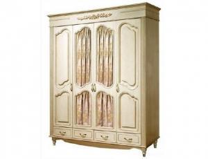 Шкаф 4 двери с зеркалами