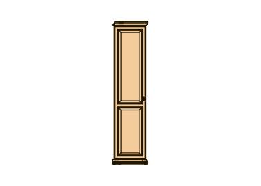 """Шкаф для одежды """"невда"""" 1 дверь, примыкающий к угловому с пр."""