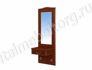 """Зеркало """"Шевалье - 4/1"""" (зеркало с ящичком и двумя декоративными крючками)"""