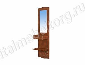 """Зеркало """"Шевалье - 5/1"""" (зеркало с ящичком и нижней полочкой)"""