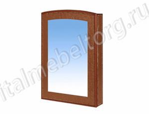 "Зеркало ""Парма - 1/1"" (зеркало с коробом на три полочки)"