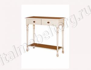 """Стол консольный """"Венеция - 3/1"""" (стол консольный с нижней полкой и двумя выдвижными ящиками)"""