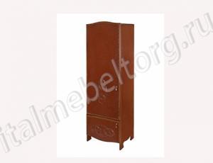 """Шкаф """"Шевалье - 2"""" (правый) Шкаф с двумя отделениями. Верхнее - полка для головных уборов и штанга для верхней одежды. Нижнее - две полки для обуви)"""