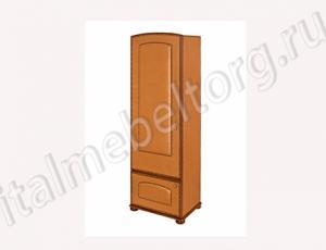 """Шкаф """"Парма - 1"""" (правый) (Шкаф с двумя отделениями. Верхнее - полка для головных уборов и штанга для верхней одежды. Нижнее - две полки для обуви)"""