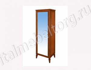 """Шкаф """"Классика-1"""" (одностворчатый с зеркалом двумя полками внутри и штангой для одежды."""