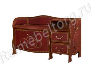 """Банкетка """"Шевалье - 4/1"""" (левая) (банкетка с откидной панелью ( двумя отделениями на 7-8 пар обуви) двумя выдвижными ящиками и подставкой для телефона)"""