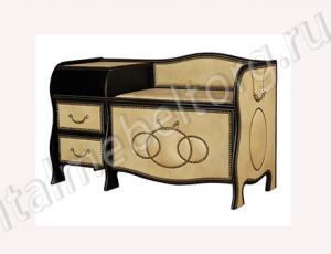 """Банкетка """"Шевалье - 4/1"""" (правая) (банкетка с откидной панелью ( двумя отделениями на 7-8 пар обуви) двумя выдвижными ящиками и подставкой для телефона)"""