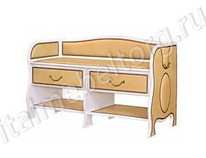 """Банкетка """"Шевалье - 5/1"""" (банкетка с двумя верхними выдвижными ящиками и двумя нижними полками для обуви)"""