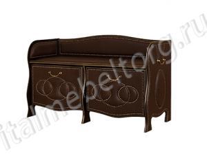 """Банкетка """"Шевалье - 5/3"""" (банкетка с двумя откидными панелями на 8-10 пар обуви)"""