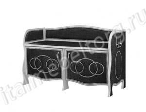 """Банкетка """"Шевалье - 5/2"""" (банкетка с двумя распашными дверцами с двумя полками в каждом отделении)"""
