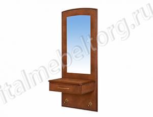 """Зеркало """"Парма - 5/1"""" (зеркало с ящиком и двумя декоративными крючками)"""