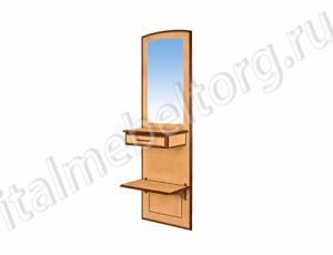 """Зеркало """"Парма - 6/1"""" (зеркало с ящиком и нижней полочкой)"""