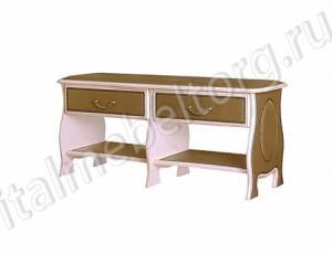 """Скамья с ящиком """"Шевалье - 4"""" (скамья с двумя верхними выдвижными ящиками и двумя нижними полками для обуви)"""