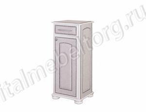 """Тумбочка """"Парма - 3"""" (левая) (тумбочка с выдвижным ящиком распашной дверцей и тремя полочками)"""