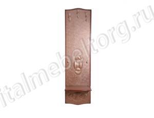 """Вешалка """"Шевалье - 5/1"""" (вешалка с тремя верхними крючками и двумя нижними и нижней полочкой для сумок)"""