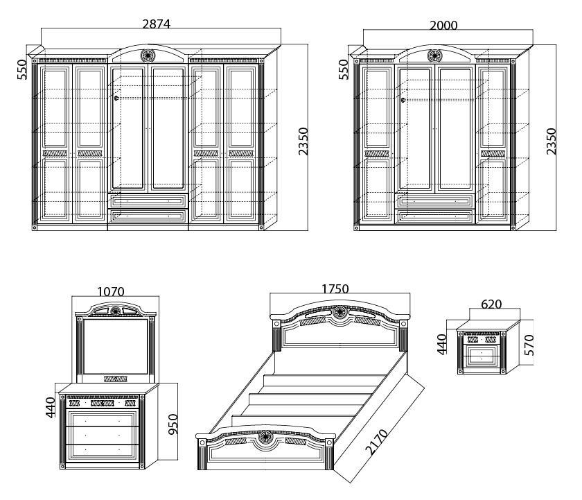 спальня клеопатра фабрика мебель юга каталог мебели