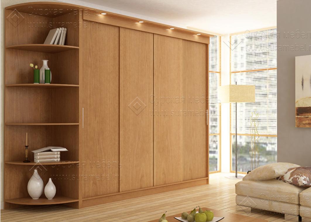 Шкаф купе четырехдверный- фото и нюансы - мебельный блог.