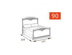 Кровать 90 Curvo Fregio