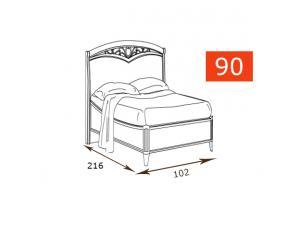 Кровать 120 Curvo Fregio
