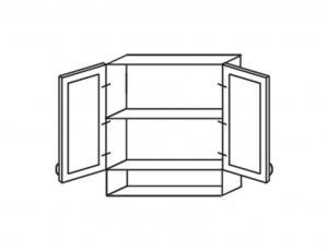 Шкаф двухстворчатый с нишей снизу (1 вкл. полка) каталог меб.
