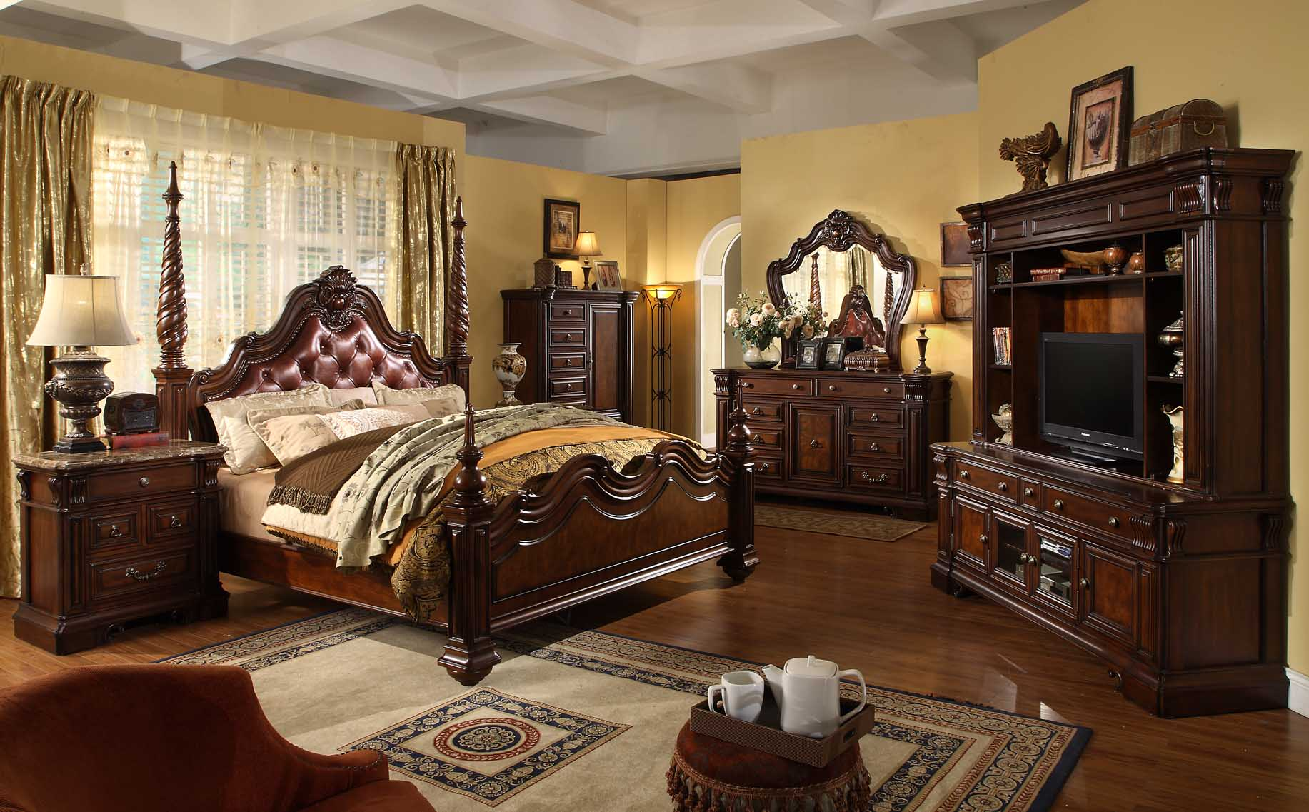 King size poster bedroom sets