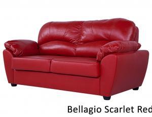 КОЖА 100%: Диван Эвита 3-местный,кожа Bellagio Scarlet red, с высоковыкатным механизмом трансформации