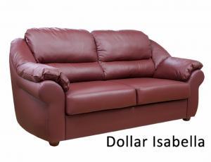 КОЖА + ЭКО/КОЖА: Диван Вестон 3-местный, кожа + эко/кожа Dollar Isabella с высоковыкатным механизмом трансформации