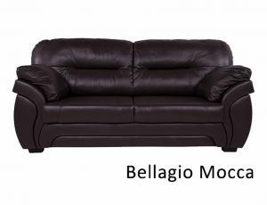 КОЖА: Диван Бруклин 3-местный, кожаBellagio Mocca, с высоковыкатным механизмом трансформации