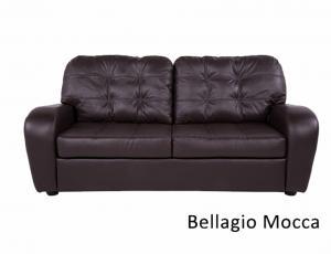 КОЖА + ЭКО/КОЖА: Диван Сидней 3-местный, кожа + эко/кожа Bellagio Mocca, с механизмом трансформации Миксотойл