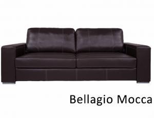 КОЖА + ЭКО/КОЖА: Диван Ричард 3-местный, кожа + эко/кожа Bellagio Mocca, с механизмом трансформации Дельфин