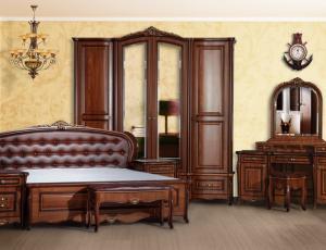 Спальня Vicenza крашенный орех фабрика Мебель Юга