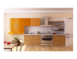 Кухня Квадро с крашенными фасадами по RAL фабрика Нео