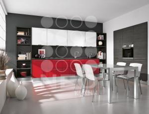 Кухня Орандж с крашенными фасадами по RAL Кухни фабрики Нео