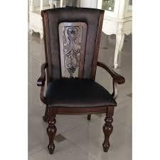 """Кресло LUSA обитое ткань """"под кожу"""" (63x59x105 см) цвет: Тёмный орех (Light Walnut) (по 2 шт./1 кор.)"""