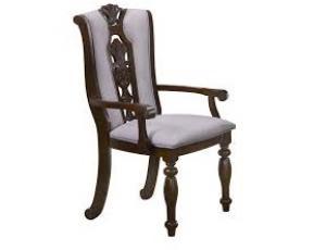 Кресло ELISSA обитое ткань (53х615х1085 см) цвет: Темный орех (Light Walnut) (по 2 шт./1 кор.)