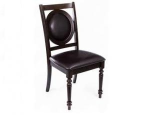 Стул  MK-1133-HG цвет: HN GLAZE (Темный орех) с мягким сиденьем и спинкой (2шт/1кор)