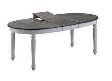 """Стол """"SHARL"""" овальный раскладной (106х160(199)х75 см) цвет: Grey/Butter White. FN-T6EX(AV)"""