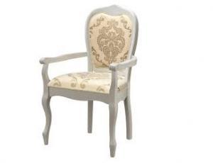 """Кресло """"Princess"""" (60х52х97 см) цвет: Молочный (Butter White. PR-AC) (по 2 шт./1 кор.)"""