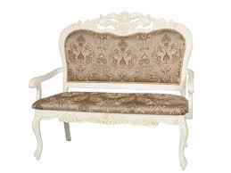 20920. Двухместное кресло с мягкой спинкой и сидением обивка - ткань (120х112х75 см) цвет: Слоновая кость IVORY