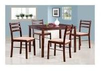 комплект 1 стол + 4 стула с мягким сиденьем цвет: Дуб в красноту - стол прямоугольный 72х110 см