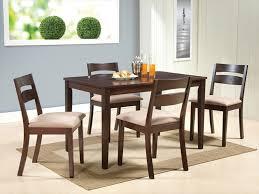 комплект 1 стол + 4 стула с мягким сиденьем цвет: Темный орех - стол прямоугольный 75х120 см
