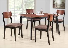 комплект 1 стол + 4 стула с мягким сиденьем цвет: Черный/Терракотовый - стол прямоугольный 75х120 см