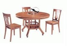 Стол 318  цвет: Light Cherry - круглый 120х120х75 см