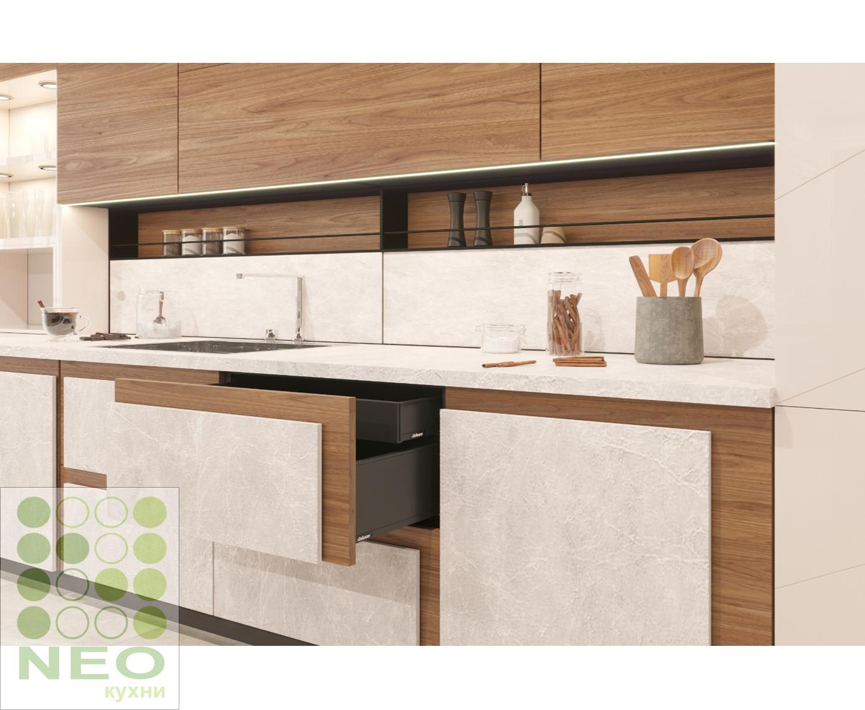 Кухня Cerama Strato Eco Кухни с каменными фасадами