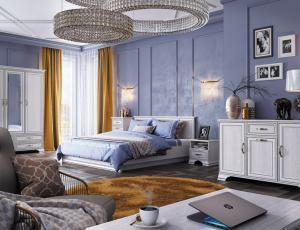 Спальня Тиффани в цвете вудлайн кремовый  фабрика БРВ Белоруссия