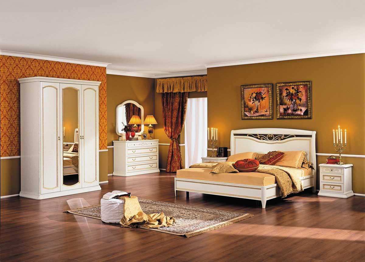 Спальня Луиджи белая отделка, фабрика Miassmobili