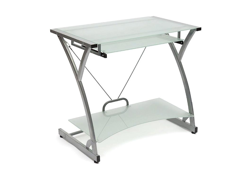 Компьютерный стол, Закаленное стекло 8 мм. Металлокаркас.